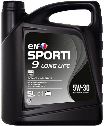 Elf Sporti 9 LONG LIFE 5w-30 5 л