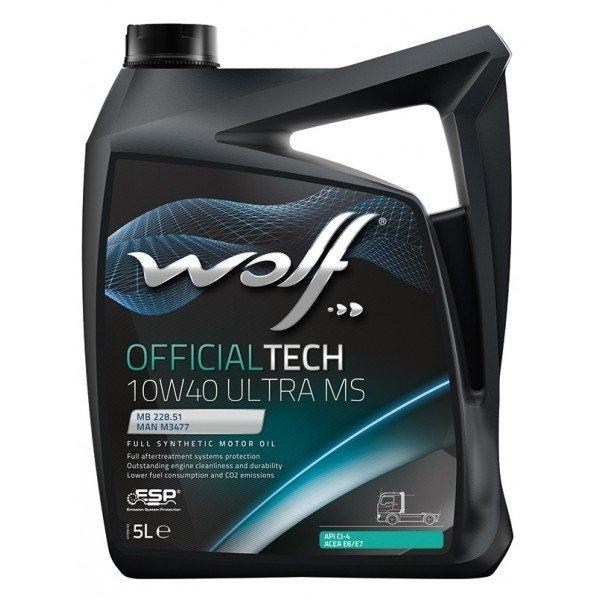 Wolf OFFICIALTECH 10W-40 ULTRA MS 5 л
