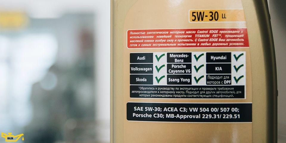 спецификация моторного масла